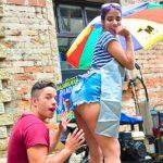 Porndoe Premium – Colombiana morena recogida y follada en gonzo duro